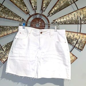 Levi   High Rise Jean Skirt